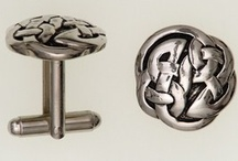 Cufflinks / A range of pewter in polished or antique finish as well as sterling silver cuff links. Celtic and Scottish thistle design run through our accessories. Also available are your own clan crest cuff links. / by MacGregor MacDuff