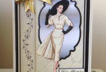 Cards  - Vintage Ladies / by Linda Spray