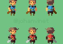 Pixel Character References