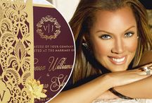 Vanessa Williams Wedding / Hollywood starlet, Vanessa Williams, ties the knot with the help of Giant Invitations' exclusive designs! Giant Invitations created a completely unique, tailored, beautiful piece of art that depicts the modern-day love story and wedding celebration of Vanessa Williams & James Skrip. For the full story, click here