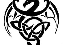 Patterns: dragons - Minták: sárkányok