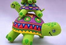 schildpad knutselen turtle crafts
