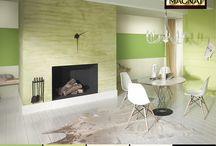 Trawertyn - inspiracje / Wnętrza w których na ścianach zastosowano tynk dekoracyjny Trawertyn MAGNAT Style
