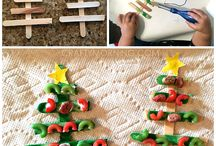 Noodle Popsicle Stick Christmas Tree Craft