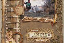 African Scrapbook ideas