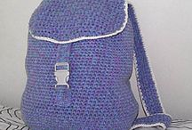 Crochet Backpacks/Cell Phone Holders Etc / by Barbara Binda