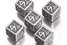 Metal dice / For those who prefer the dice that would make the table tremble - here they are! Real metal dice with beautiful QW style engravings. Try them out!