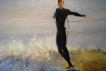 Water / Living in Virginia Beach, Virginia, inspires many of our local artists to pick up their paintbrush and capture the water's wide ranging spirit - from wild ocean waves to blue-green tranquility.