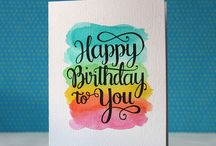 brush lettering birthday cards