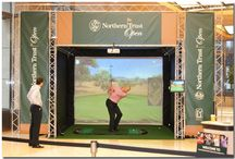 Golf Simulator / The state of the art Golf Simulator uses the latest technology incorporating GPS Course graphics for which players of all abilities have the opportunity to experience the realistic game play.