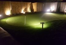 Golf Greens at night / Golf Greens, Design Lighting and Installation by AmazonGolfGreens.ie