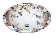 Floral Hand Painted Sinks & Toilets / Elegant floral design hand painted sinks, toilets & bathroom fixtures. Styles to suit every taste and style of bathroom from a Victorian renovation to a contemporary guest bath or powder room. Hand-made in the USA by decoratedbathroom. / by Decorated Bathroom