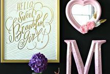 Girl's Room Decor / Home decor / by Blessed With Grace by Lisa King Morgan