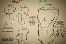 male body drawing reference