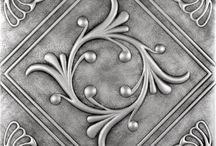 Metal art / pewter, aluminium, decoupage, silver , etc...