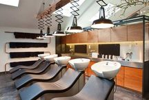 Hairdressers interiors