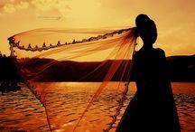 silhouette  / #bride #marry #maried #photo #weddingphoto #photographer #train #wedding #hair #bride #ankara #Turkey #groom #rings #love #yuzuk