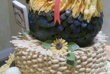pasteles decorados de gallos