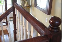 staining steps and stairs