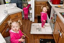 Les bétises de bébé / Pris en flagrant délit, on les retrouve parfois dans des endroits improbables