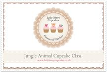 Jungle Animal Cupcake Decorating Class / A wonderful new class full of jungle animals! This fabulous class is detailed and full of  children's favourite Jungle Animals. We will teach you how to create 12 different animals.  -Lion, Tiger,  Elephant, Snake, Zebra,  Monkey, Hippo, Rhino, Parrot, Alligator, Panda, Giraffe Come and learn how to make them all so  you then have the skills to create them for your friends and family. This Class is approximately 3.5hours