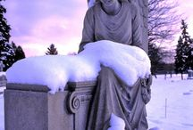 Divine Concrete (Statuary) / Statuary, angels, carved tombs or markers, misc. stone figures / by Elaine Canaday