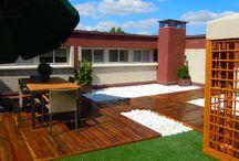 Cesped artificial terrazas / http://www.quejardines.com  Proceso de montaje e instalación de césped artificial en terrazas