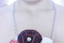 textil necklace