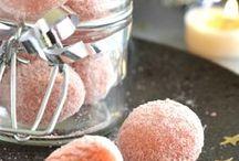 truffes de noel aux biscuits rose