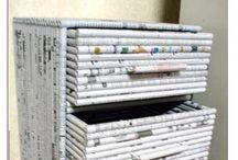 Reciclaje  con rollos de papel