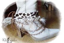 Decora-botas by Flor Casablanca / Quieres hacerles un cambio de look a tus botas? hazlo con un decora-botas realizado a mano