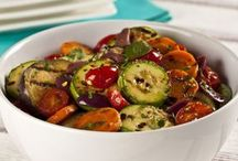 salada de legumes grelhados