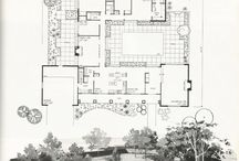 1950s 1960s Home Blueprint Floorplans