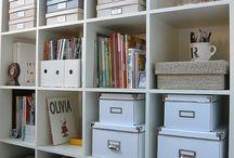 Home {Bookshelf styling}