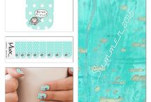 Nail Art / Nail Art by ElhaDesign  Nail stickers from Minx