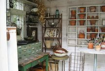 Garden storage organistion / Ideas for storing tools, pots, seeds etc while still looking pretty!