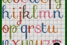 Alfabetos en punto de cruz