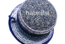 Hatmilia handmade hats / crochet vintage handmade winter bucket cloche hats