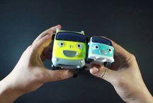 cute mini bus car toy