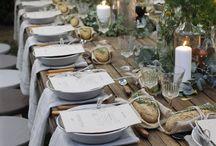 Letní venkovní party oslava / Úpravy jídelní tabule na letní party