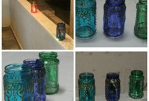 Mason /Eclectic Jar Lantern!!! / Diwali Decorations Ideas