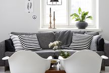 Scandi grey couch styling