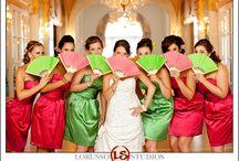 Wedding hand fans  / cute photos