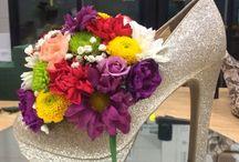 цветы в туфле