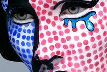 Pop art schminken / Pop art schminken. Roy Lichtenstein als grote inspiratie. Bekijk op dit bord de schmink voorbeelden voor mannen en vrouwen.