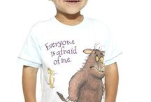 Gruffalo clothes for kids! / These children's clothes feature images and scenes from Donaldson's 'The Gruffalo', 'The Gruffalo's Child', and the Christmas special 'Stick man'.