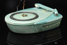 vintage radios, record players etc.
