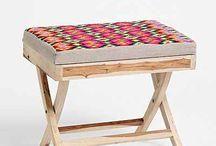 krzesła balkonowe z materiałem