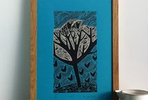 Art: inspired Lino prints