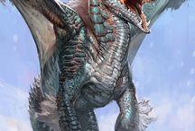 Mitología, dragones / Dragones, seres fantásticos, mitología, leyendas, héroes, soldados, Edad Media, caballeros..